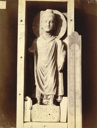 Statue of Buddha from Mian Khan Tope, Mala Tangi, Peshawar District